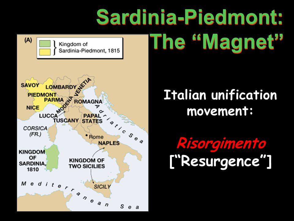 Italian unification movement: Risorgimento [ Resurgence ]